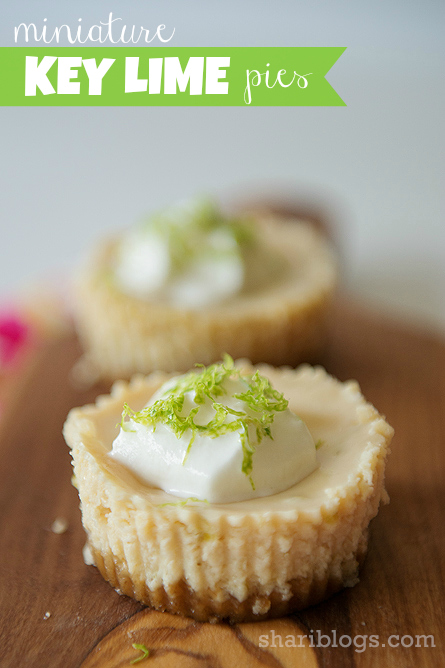 Mini Key Lime Pies - http://www.shariblogs.com
