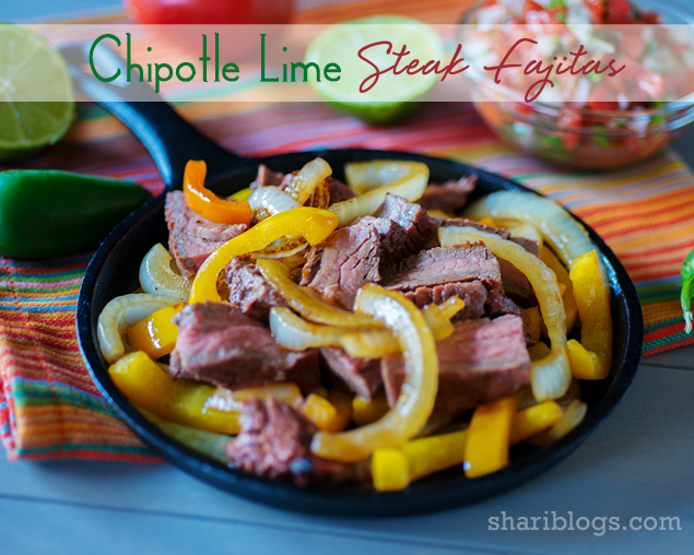 Chipotle Lime Steak Fajitas | www.shariblogs.com