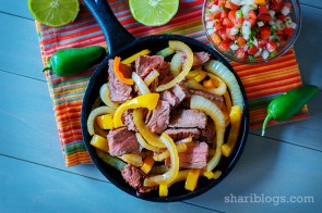Chipotle Lime Steak Fajitas