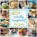 40+ Candy Inspired Recipes Round Up | www.shariblogs.com
