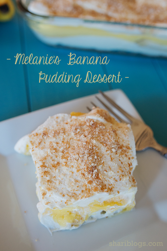 Melanie's Banana Pudding Dessert | www.shariblogs.com