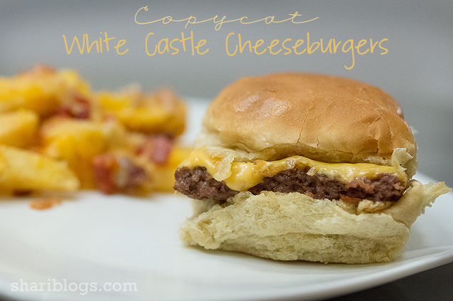 Copycat White Castle Cheeseburgers | www.shariblogs.com