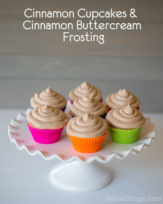 Cinnamon Cupcakes with Cinnamon Buttercream Frosting | www.shariblogs.com