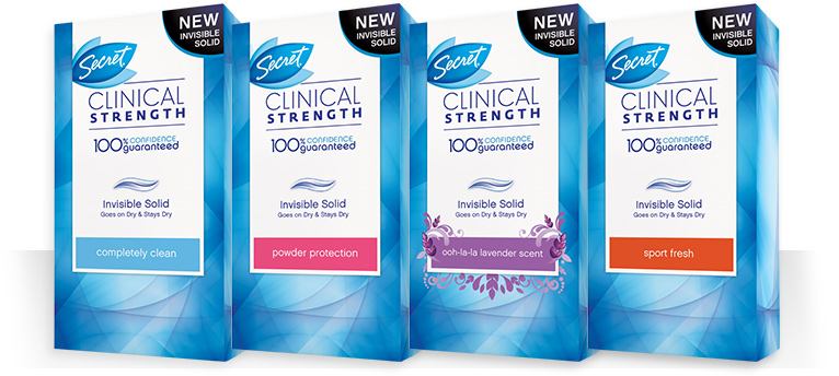 secret product boxes solid Secret Clinical Strength Deodorant {Giveaway}$25 Walmart Gift Card