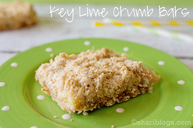 Key Lime Crumb Bars | www.shariblogs.com