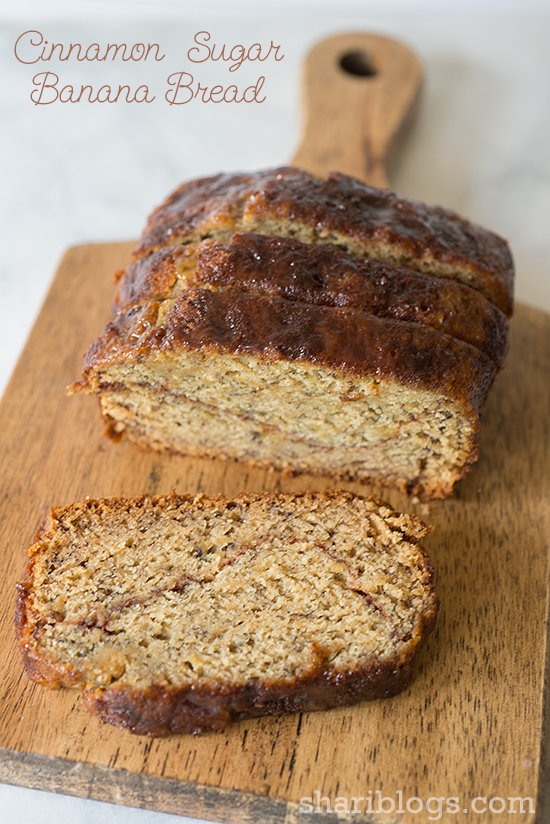 Cinnamon Sugar Banana Bread | www.shariblogs.com
