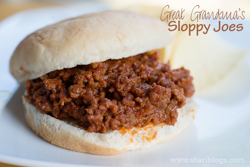 Great Grandma's Sloppy Joes | www.shariblogs.com